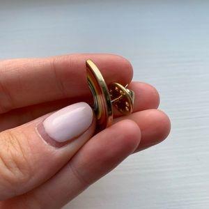 Vintage Jewelry - Vintage gold & enamel rainbow lapel pin